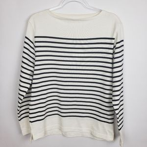 Muji brand from Japan! striped cotton boatneck top